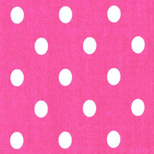 Candy Pink White Polka Dot Home Decorating Fabric